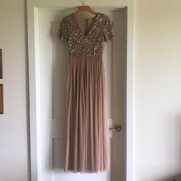 3ab4de54 ASOS Dresses & Skirts - ASOS Maya V Neck Maxi Tulle Dress with Sequins
